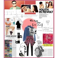 90's Kpop Star by chomiczynka on Polyvore featuring polyvore fashion style MINKPINK Converse Karl Lagerfeld Prada