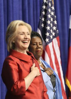 Former Secretary of State Hillary Clinton, (D),  sees herself as a strong advocate for average Americans.