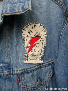 David Bowie Embroidered Patch/Brooch by LeighLaLovesYou on Etsy