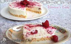 Fehér csokis-málnás sajttorta sütés nélkül recept fotóval