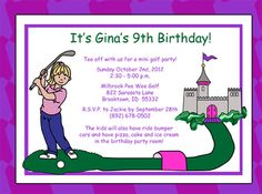 Sky blue tee time miniature golf birthday party invitation mini sky blue tee time miniature golf birthday party invitation mini golf birthday invitations pinterest miniature golf birthdays and party invitations filmwisefo