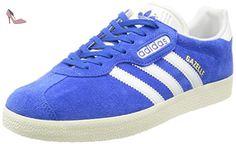 adidas Gazelle Super, Baskets Basses Homme, Bleu (Blue/Vintage White/Gold Metallic), 43 1/3 EU - Chaussures adidas (*Partner-Link)