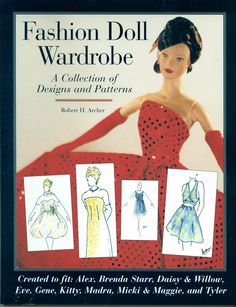 Free Copy of Book - Fashion Doll Wardrobe - great collection of patterns, has color photos. **FREE PATTERN as at January Barbie Sewing Patterns, Doll Dress Patterns, Barbie Mode, Barbie And Ken, Sewing Doll Clothes, Sewing Dolls, Barbie Paper Dolls, Doll Wardrobe, Doll Tutorial