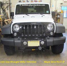 "2016 Jeep Wrangler Willys Unlimited Meyer Drive Pro 6' 8"" 2016 Jeep Wrangler, Snow Plow, Jeeps, Monster Trucks, Jeep"