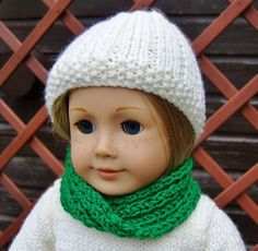 American Girl Doll Free Cowl Pattern