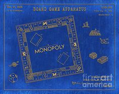 1935 monopoly board game patent art in white on a dark blue graph 1935 monopoly board game patent art in white on a dark blue graph paper background patent awarded to charles b darrow pinterest monopoly malvernweather Image collections