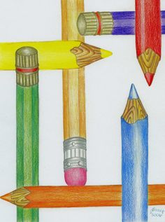 I'm starting my board with my drawing-My Pencils.