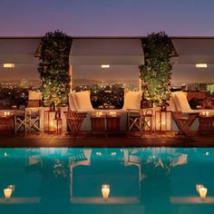 The Mondrian Hotel in West Hollywood! Enjoy the laid back atmosphere in this contemporary hotel!