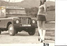 Girl with an oldschool Land Rover