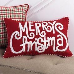 Rectangular Merry Christmas Throw Pillow