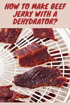 How to Make Beef Jerky with a Dehydrator? One of the easiest ways to make homemade beef jerky involves a dehydrator………………………………………………………………………………………………………. Beef Jerky Marinade, Beef Jerky Dehydrator, Beef Jerkey, Recipe Marinade, Beef Steak, Roast Beef, Oven Jerky, Food Dehydrator, Venison Recipes
