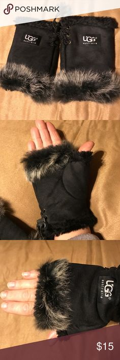 UGG fingerless fur gloves Fur lined fingerless gloves ugg Accessories Gloves & Mittens