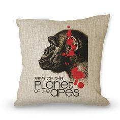 The rise of planet of the apes pillow case neck by art888888, $23.00