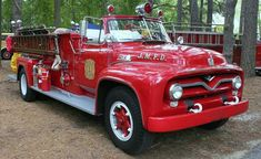 Early 1950's Ford cabless Fire Truck....