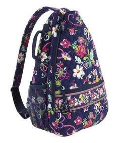 Another great find on #zulily! Ribbons Sling Tennis Backpack by Vera Bradley #zulilyfinds
