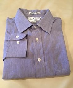 #Burberrys of London Dress #Shirt, Size: 16-32/33, 100% Cotton, Made in USA #Burberry