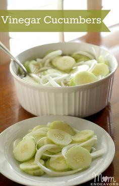 Vinegar Cucumbers                                             (Didn't add onion at home, but think I'd like them--will try them)
