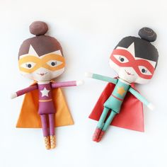super girls!  handmade dolls by mio mucaro