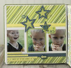 Be Young Boy Scrapbook Layout Idea