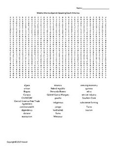 latin america vocabulary word search for middle school geography middle school geography. Black Bedroom Furniture Sets. Home Design Ideas