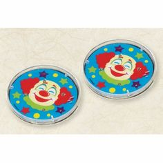 Clown Round Maze Puzzles, Pack of 6, Party Bag Filler