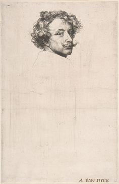 Sir Anthony van Dyck, Self-Portrait, from The Iconography,  ca. 1630. MET, NYC