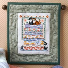 Cat's Meow Quilt Cross Stitch ePattern