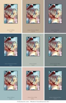 Jotun Lady, Color Themes, Colorful Interiors, Color Inspiration, Serenity, Paint Colors, Abstract Art, Cabin, Bedroom