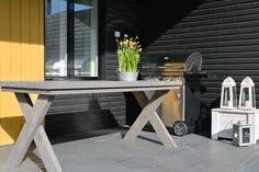 Heinässä heiluvassa: DIY: Terassipöytä Entryway Tables, Diy, Furniture, Garden, Home Decor, Garten, Decoration Home, Bricolage, Room Decor