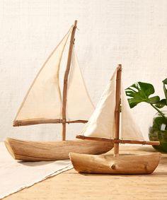 Driftwood Sailboats - Set of 2