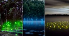 Drawing inspiration from early theatrical training, and influenced by methods of staged photography and set design, artist Barry Underwood (previously) transforms ordinary landscapes into something out of science fiction. The artist utilizes LED lights, luminescent material, and other photographic