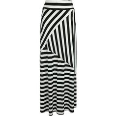 Jane Norman Striped maxi skirt ($39) ❤ liked on Polyvore