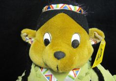 """18"""" Native  American Indian Plush Doll Bear Stuffed  - free shipping #ToyBoxCreations #Thanksgiving"""