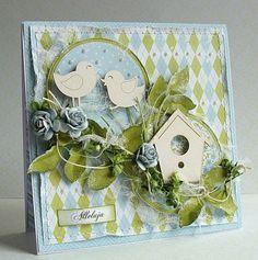 Dorota_mk: Z nowej kolekcji Card Making Inspiration, Making Ideas, Card Making Designs, Bee Cards, Quilling Cards, Beautiful Handmade Cards, Marianne Design, Pretty Cards, Card Maker