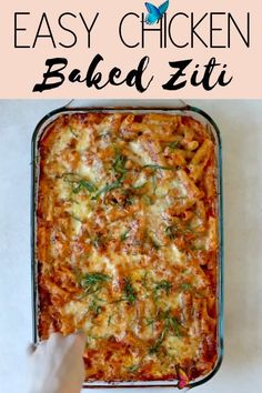 Chicken Baked Ziti (VIDEO) Chicken Baked Ziti: An easy and healthy casserole recipe made with Parmesan, Ricotta and Mozzarella! Be sure to watch the video to see how simple it really is.<br> Chicken Baked Ziti: An easy and healthy casserole recipe made with Parmesan, Ricotta and Mozzarella! Be sure to watch the video to see how simple it really is! Chicken Ziti, Baked Ziti With Chicken, Easy Baked Ziti, Baked Ziti Healthy, Healthy Casserole Recipes, Easy Healthy Recipes, Easy Microwave Recipes, Health Recipes, Pasta Recipes