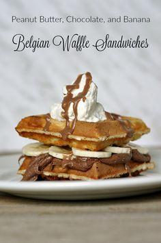 Waffle Bar, Waffle Sandwich, Hershey Recipes, Breakfast Recipes, Dessert Recipes, Sandwiches, Brunch, Belgian Waffles, Sweet Desserts
