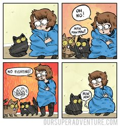 i walk around in a blanket a lot and pretend i'm a big bat/stop cat fightsmore comics || Patreon || twitter || facebook || shop