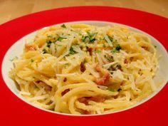Como fazer molho carbonara - espaguete carbonara