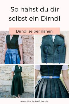 In our we sew a dirndl step by step. In our let& sew a dirndl step by step. You can choose the cut yourself. STEP-BY-STEP INSTR. Hipster Fashion Style, Diy Fashion, Robe Diy, Dirndl Dress, Mode Vintage, Diy Dress, Beautiful Patterns, Sewing Clothes, Refashion