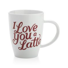 Kate Forrester's romantic script spells out a punning expression of love in this light-hearted mug, perfect for the coffee lover. Coordinates with matching platter and plate.