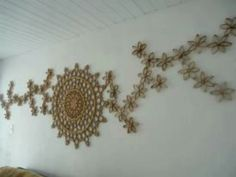 Toilet paper roll wall art.