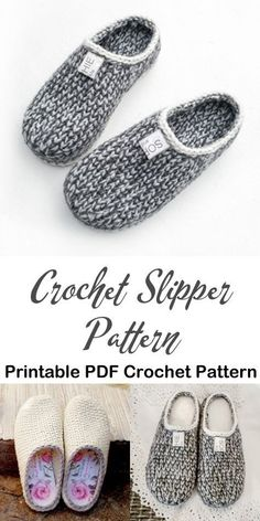 Make a cozy pair of knit look slippers. slipper crochet patterns – crochet patte… Make a cozy pair of knit look slippers. slipper crochet patterns – crochet patte…,Socks Make a cozy pair of knit. Knit Or Crochet, Crochet Gifts, Crochet Baby, Crotchet, Knitted Slippers, Slipper Socks, Men's Slippers, Crochet Slipper Boots, How To Crochet Slippers