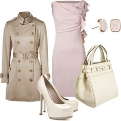 Neutral Beauty, created by #styleofe on #polyvore. #fashion #style #Valentino #Burberry