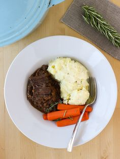 Pot roast with a flavorful gravy that turns of melt-in-your-mouth tender every time.