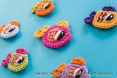 Ravelry: Happy Fishes (2 sizes) Applique pattern by Carolina Guzman