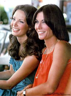 Jaclyn Smith and Kate Jackson who starred in  'Charlies Angels' series 1 (1976)