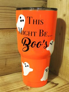 One and Only Halloween Yeti Tumbler-30oz// Travel Mug, Coffee and Halloween Lover, Boozy cup, Punny Halloween Cup by TheIntrovertCrafter on Etsy