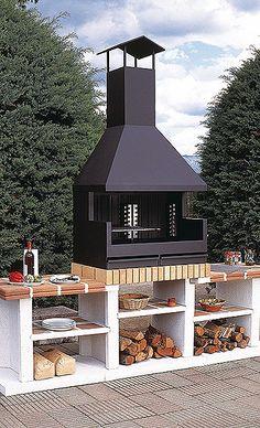 barbacoa fornells exterior barbacoa fabricada enteramente en acero inoxidable equipada con parrillas para asar asadores para jardinideas