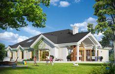 Проект дома «Парковая резиденция 2» представительского класса, напиминает стиль строения французских и американских пригородных резиденций Mansions Homes, House Plans, Villa, Exterior, House Styles, Outdoor Decor, Home Decor, Mansions, Decoration Home