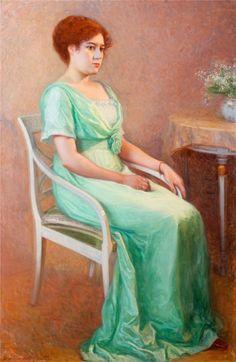 Portrait of a Young Woman - Elin Danielson-Gambogi